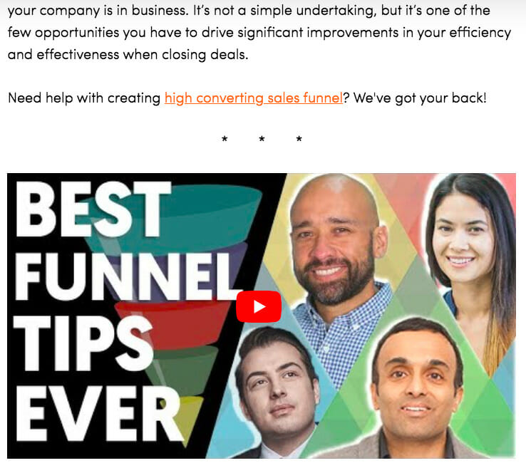 Marketing Funnel - video example