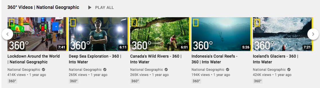 National Geographic 360 videos