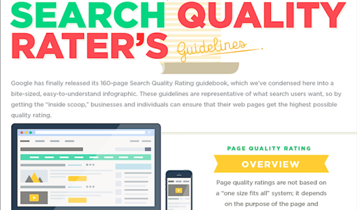 Google's Search Quality Rater's Guidelines: Here's How to Ensure Your Site Gets a High Quality Rating! [infographic]