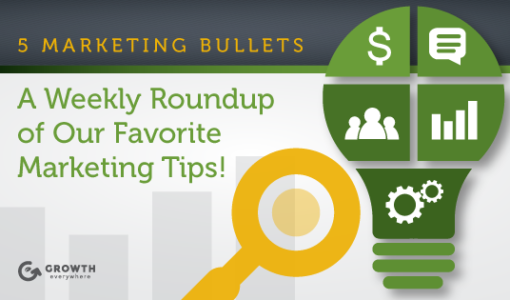 This Week in Growth: 5 Marketing Bullets 3/25/2016